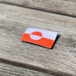 Greenland Flag Hook Patch Small
