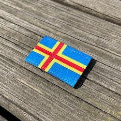 Åland Flag Hook Patch Small