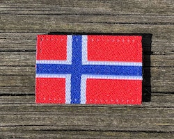 Norway Flag Hook Patch Small