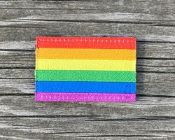 Rainbow Flag Hook Patch Small