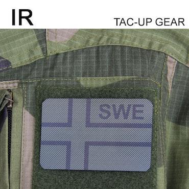 IR - SWE Flagga Dual IFF Grön/Svart