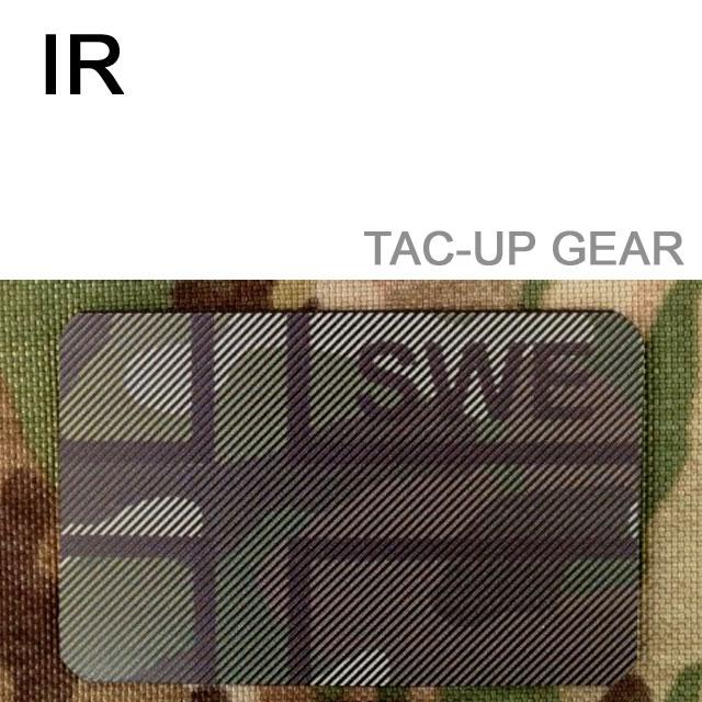 Ett IR - SWE Flagga Dual IFF Multicam märke