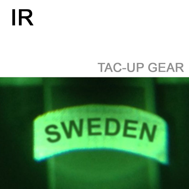Text Sweden is showing through IR device.
