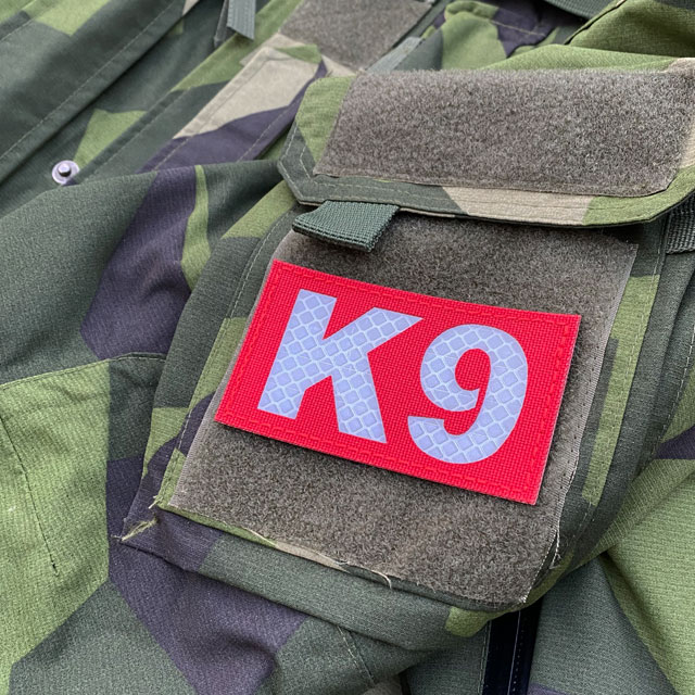 Highly visible IR - K9 Red Hook Patch