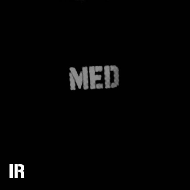 A IR - MED Black-Green Reversible Glow Hook Patch seen through IR Camera