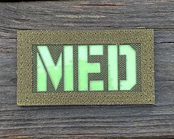 IR - MED Black-Green Reversible Glow Hook Patch
