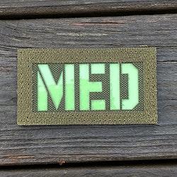 IR - MED Black-Green Reversible Glow Hook Patch