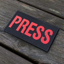 IR - PRESS Red txt Hook Patch