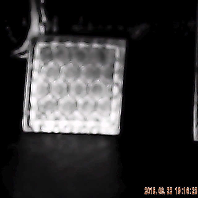 Glint showing on a IR Tactical Glint Square - 2 cm.