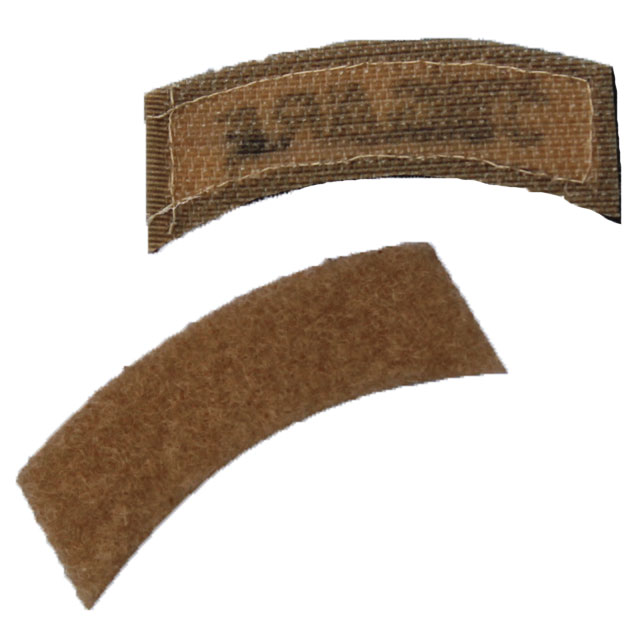 Backing of a JÄGARE Brown/Sand/Brown Desert Hook Patch