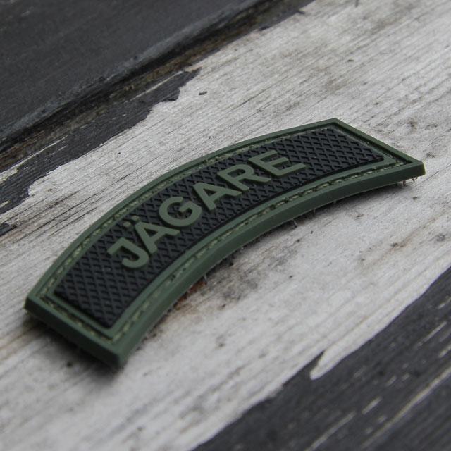 JÄGARE Green/Black PVC Patch M15.
