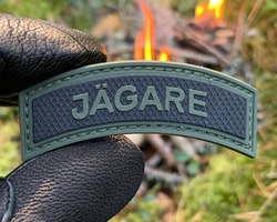 JÄGARE Green/Black PVC Patch M15
