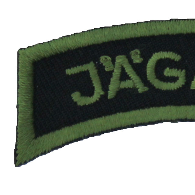 Close up of a JÄGARE Patch Jungle Green.