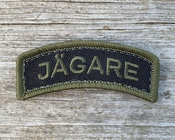 JÄGARE Hook patch Green/Black/Green