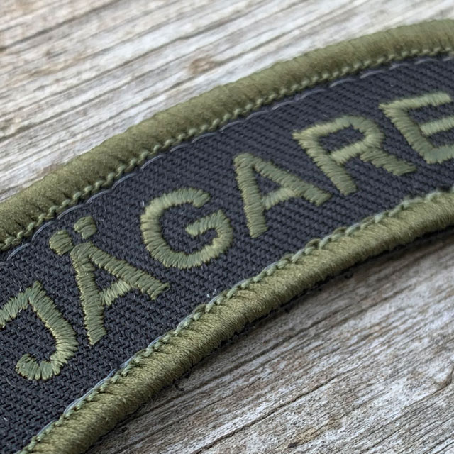 Closer look on the JÄGARE Hook patch Green/Black/Green.