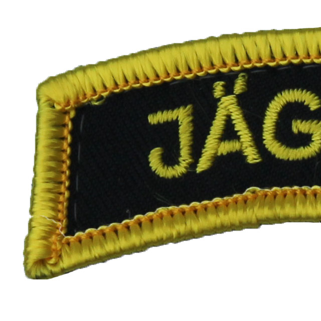 Close up of a JÄGARE Hook Patch Yellow/Black/Yellow.