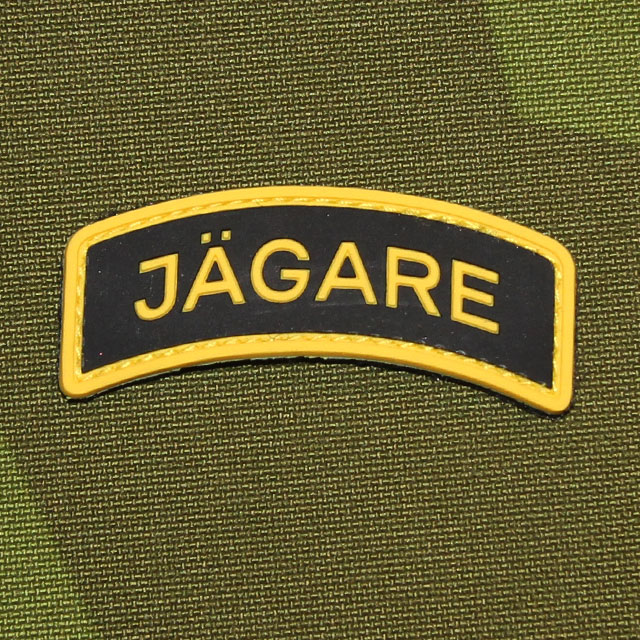 JÄGARE Yellow/Black/Yellow PVC Patch with M90 background