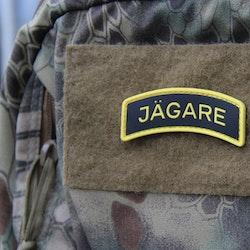 JÄGARE Yellow/Black/Yellow PVC Patch
