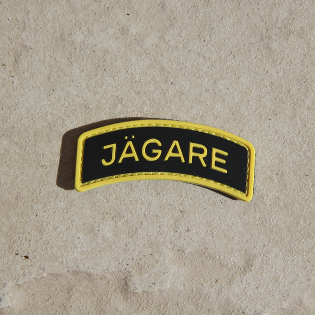 JÄGARE Yellow/Black/Yellow PVC Patch.