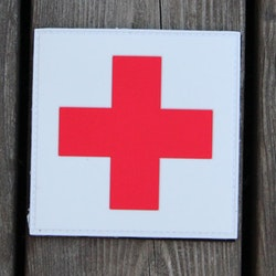 Medic Cross PVC Hook Patch