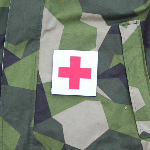 Medic Cross PVC Hook Patch and M90 camouflage.