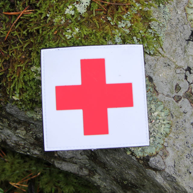 Outdoor product picture of the Medic Cross PVC Hook Patch.