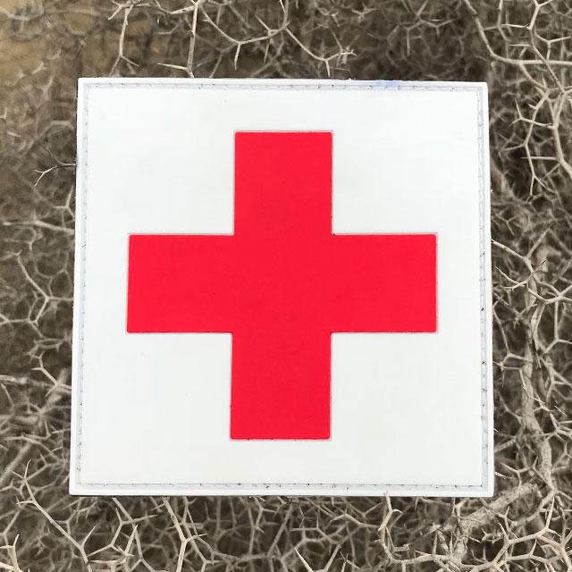 Medic Cross PVC Hook Patch.