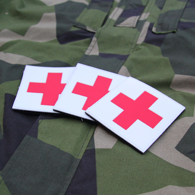 Medic Cross PVC Hook Patch x 3 Bundle.