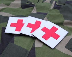 Medic Cross PVC Hook Patch x 3 Save