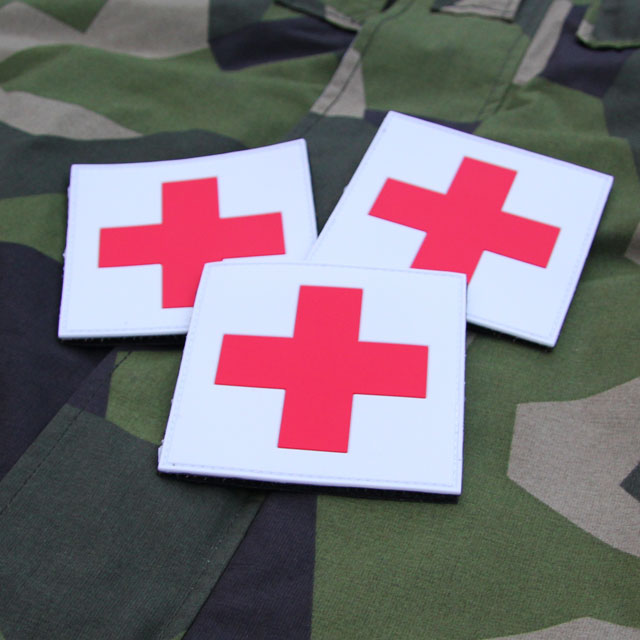 Medic Cross PVC Hook Patch x 3 Bundle.
