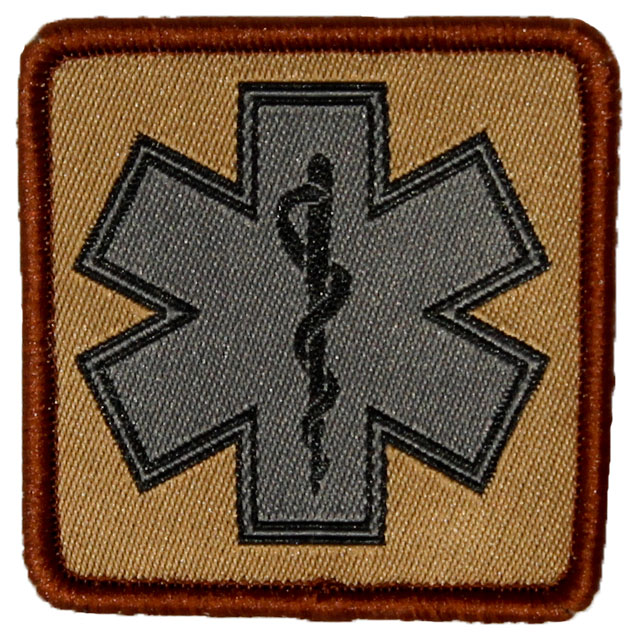 MEDIC Desert Star Hook Patch.