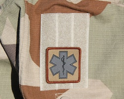 MEDIC Desert Star Hook Patch