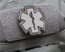 MEDIC PVC Star Black Grey Hook Patch