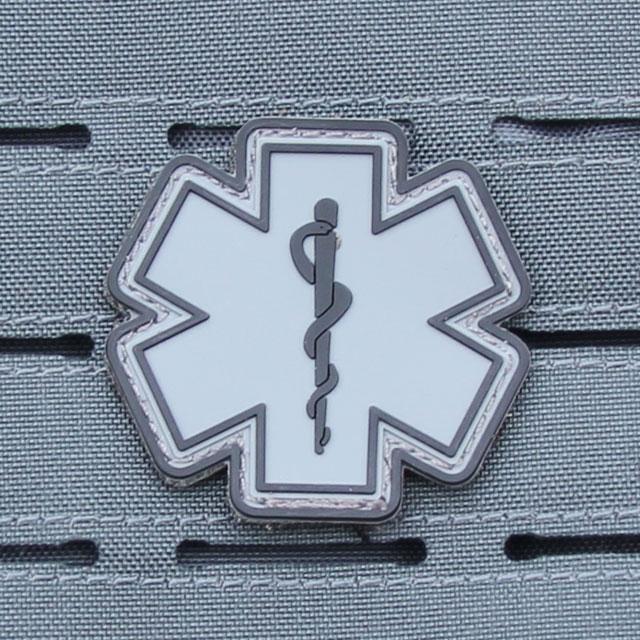 MEDIC PVC Star Black Grey Hook Patch.
