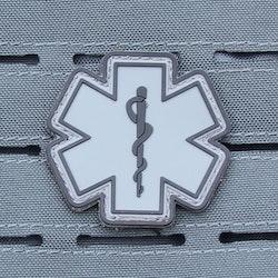 MEDIC PVC Star Black Grey Hook Patch