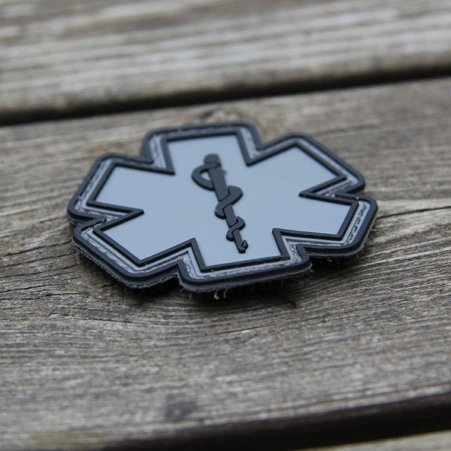 Products picture of a MEDIC PVC Star Black Grey Hook Patch.