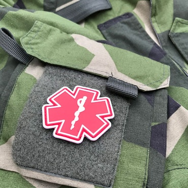 MEDIC PVC Star Red White Hook Patch