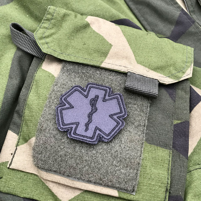M90 and a MEDIC Star of Life Black Grey Hook Patch.