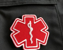MEDIC Star of Life Red White Hook Patch