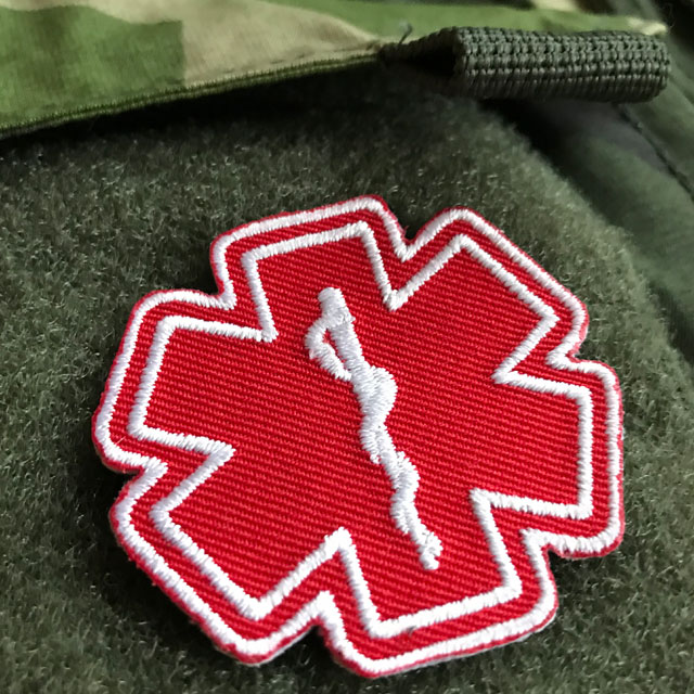 MEDIC Star of Life Red White Hook Patch.