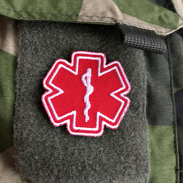 Product photo of the MEDIC Star of Life Red White Hook Patch.