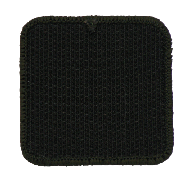 Backside of a MEDIC Subdued Green Star Patch.
