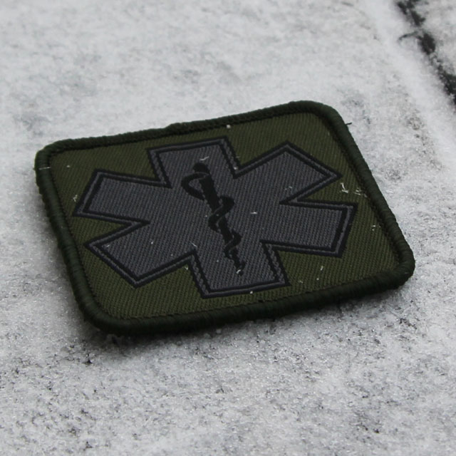 MEDIC Subdued Green Star Patch.