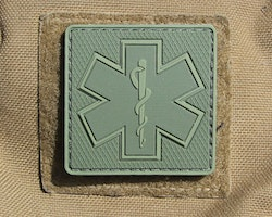MEDIC Subdued Green Star Hook PVC Patch