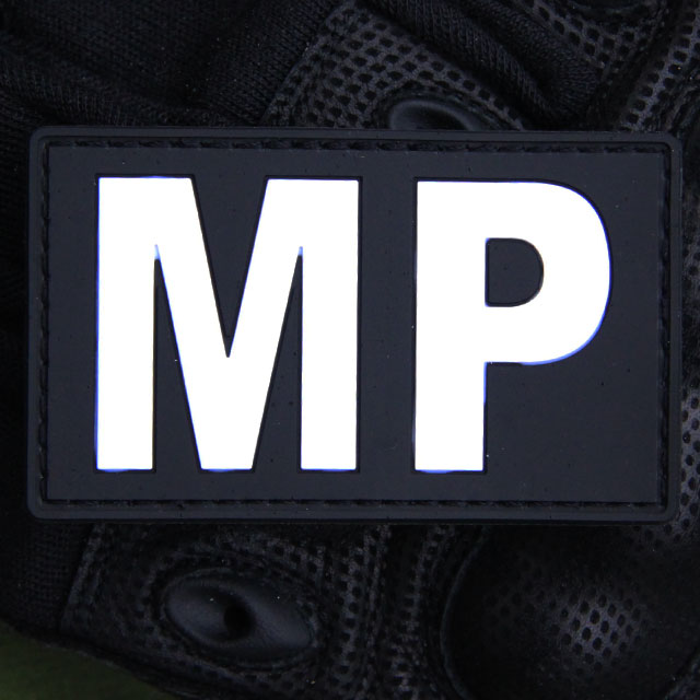 Militärpolis PVC Patch.