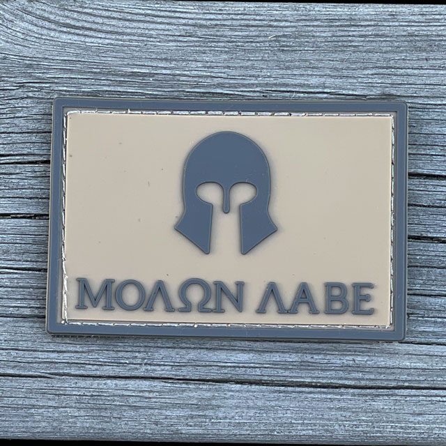 Molon Labe Coyote PVC Hook Patch from TAC-UP GEAR