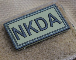 NKDA Green/Black PVC Hook Patch