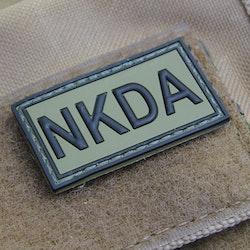 NKDA Green/Black PVC Hook Patch