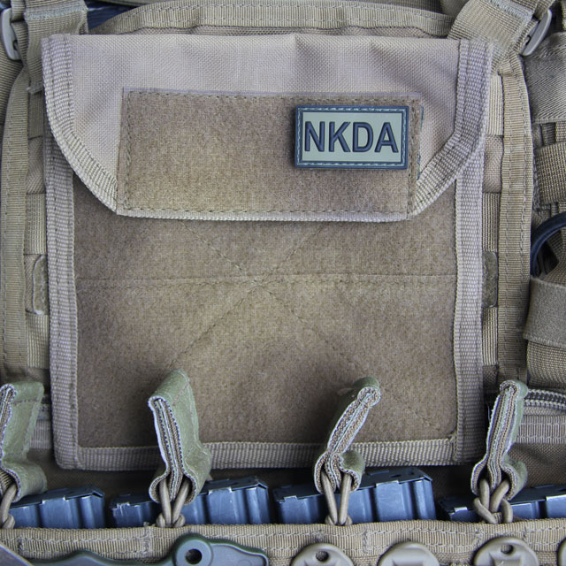 NKDA Green/Black PVC Hook Patch.