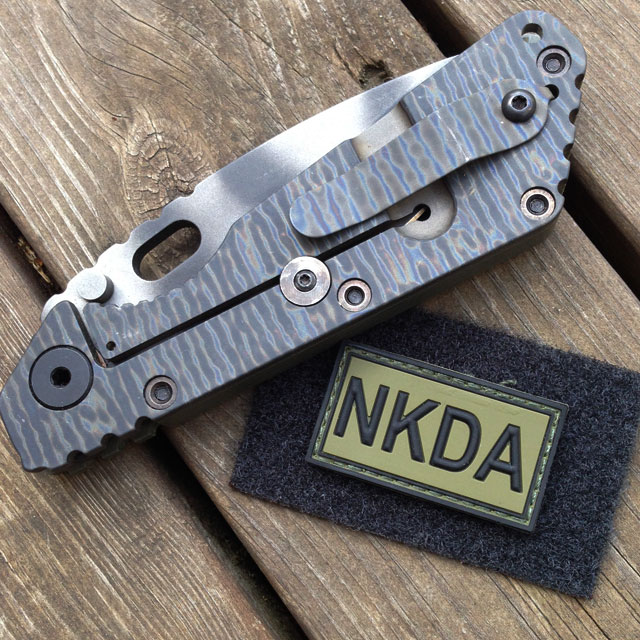 Strider knife and a NKDA Green/Black PVC Hook Patch.